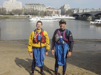 Myself and Julien pose at the finish (click to enlarge)