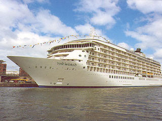 Residential cruise ship, The World