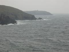 Fortification above Leganagh Point as seen from Dunworley Point.