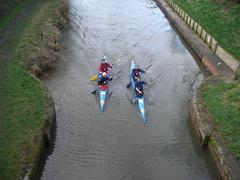 About to pass under Horton Bridge, about 3 miles into the race (click to enlarge)